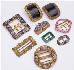 Sale 9190E - Lot 77 - A collection of gilt and other belt buckles
