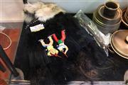 Sale 8304 - Lot 84 - American Indian Head-Dress & Artefacts & a Walking Stick