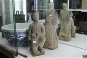 Sale 8324 - Lot 71 - Stone Figure of an Elder with a Kneeling Soldier