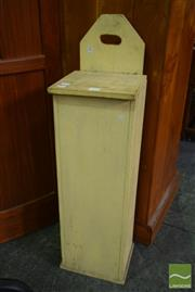 Sale 8545 - Lot 1088 - Painted Pine French Baguette Bin