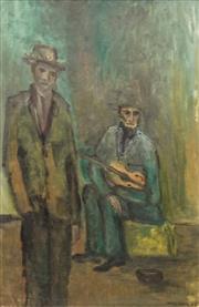 Sale 8631 - Lot 2007 - Hinke Zieck - Street Musicians 1963 59 x 35cm