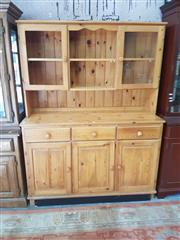 Sale 8676 - Lot 1183 - Pine Sideboard with Hutch Top