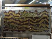 Sale 8776 - Lot 2010 - Grahame Eastwood - Goanna 2001 acrylic on canvas, 51 x 104cm, signed and dated lower right