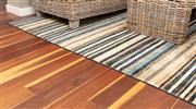 Sale 8904H - Lot 47 - An oversized woollen carpet in mute stripe design, 312cm x 235cm