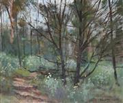 Sale 8901 - Lot 502 - John Maudson (1918 - ) - Lorikeets among the trees 34 x 43 cm
