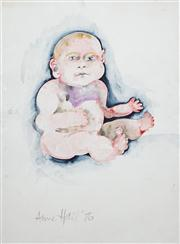 Sale 8410A - Lot 5043 - Anne Hall (1945 - ) - Untitled, 1976 (Baby) 76.5 x 56cm (sheet size)
