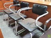 Sale 8435 - Lot 1086 - Set of Three Warren McArthur Tubulat Chairs