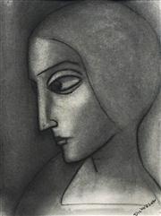 Sale 8583 - Lot 552 - Robert Dickerson (1924 - 2015) - Untitled (Portrait) 36.5 x 28cm