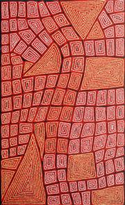 Sale 8714A - Lot 5034 - Thomas Tjapaltjarri (c1964 - ) - Tingari 147 x 90cm (stretched and ready to hang)