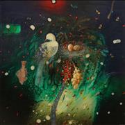 Sale 8652 - Lot 528 - Hugh Oliveiro (1938 - ) - Edge of Paradise, 1986 118 x 119cm