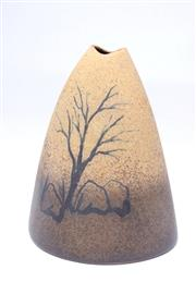 Sale 8701 - Lot 26 - David Rivette Studio Potted Vessel ( H 20cm)