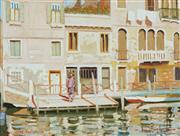 Sale 8821A - Lot 5071 - Dale Marsh (1940 - ) - Canal Scene, Venice 29.5 x 39.5cm
