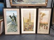 Sale 8797 - Lot 2050 - 3 Middle Eastern Scene Prints