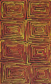 Sale 8838 - Lot 571 - Ronnie Tjampitjinpa (c1943 - ) - Fire Dreaming 92 x 57cm (stretched and ready to hang)