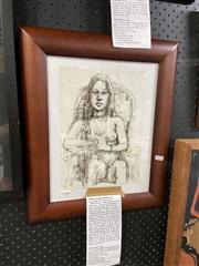 Sale 8906 - Lot 2058 - Wallace Thornton - Nude Study, Ink on Paper