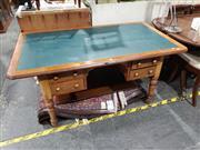 Sale 8988 - Lot 1035 - Married Top Four Drawer Desk (H:75 W:150 D:87cm)
