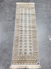 Sale 9080 - Lot 1054 - Persian Blue and Cream Tone Bokhara Runner (200 x 66cm)