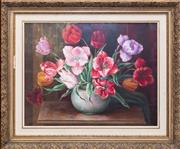 Sale 8368A - Lot 54 - Annie D. Oliver - Tulips 42 x 54 cm