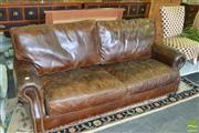 Sale 8383 - Lot 1354 - Brown Leather Two & Half Seater Sofa