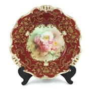Sale 8545N - Lot 128 - Royal Doulton Hand Painted Cabinet Plate, signed W. Slater. (D: 23.5cm)
