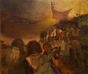 Sale 8606 - Lot 511 - Max Gosewinckel (1921 - 2009) - Under Governor Arthur Phillips Watch, October 1788 Sydney Cove 66 x 79cm