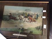 Sale 8663 - Lot 2081 - 2 Framed Prints: Benezit - Street Scene; When George IV was King