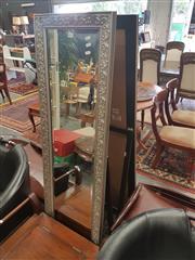 Sale 8676 - Lot 1150 - Pair of Ornate Framed Bevelled Edge Modern Cheval Mirrors