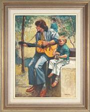 Sale 8828 - Lot 2027 - Harold Lane (1925 - 2012) - The Duo 59.5 x 44cm
