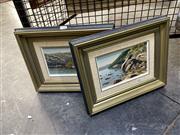 Sale 8891 - Lot 2040 - Marilyn Peck (2 works) Moorings, Refuge Bay &Rocks, Cowan Creek oil on canvas on board, 30.5 x 38.5 cm each, signed lower right