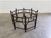 Sale 9080 - Lot 1035 - Round timber table base
