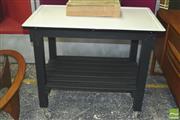 Sale 8310 - Lot 1018 - Enamel Top Kitchen Island on Castors