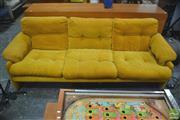 Sale 8310 - Lot 1057 - C&B Italia 3 Seater Coronado Lounge in Mustard by Tobia Scarpa