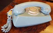 Sale 8320 - Lot 816 - 1970s Retro blue phone