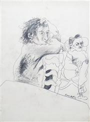 Sale 8410A - Lot 5044 - Anne Hall (1945 - ) - Untitled, 1975 (Two Figures at Leisure) 76.5 x 56cm (sheet size)