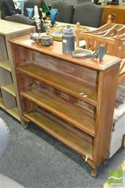 Sale 8440 - Lot 1056 - Timber Open Bookshelf