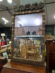 Sale 8562 - Lot 1053 - Large Timber Framed Mirror