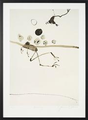 Sale 8741A - Lot 7 - John Olsen (1928 - ) - Frog Swimming, 2018 numbered, titled and signed in pencil