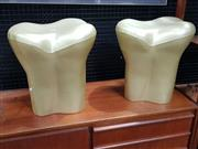 Sale 8930 - Lot 1002 - Pair of Phillip Starck Tooth Stools
