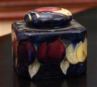 Sale 8934H - Lot 84 - A Moorcroft inkwell and lid, Height 6cm x Width 8cm x Depth 8cm