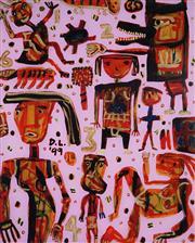 Sale 9001 - Lot 528 - David Larwill (1956 - 2011) - Navajo 100 x 81 cm (frame: 119 x 98 x 3 cm)