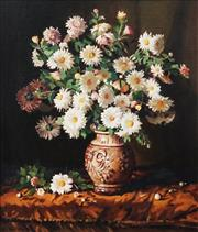 Sale 9001 - Lot 526 - Harley Griffiths (1908 - 1981) - Still Life with Daisies, 1980 69 x 59 cm (frame: 84 x 75 x 4 cm)