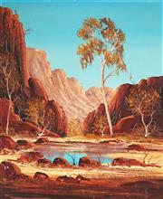 Sale 9053 - Lot 2039 - Henk Guth (1921 - 2003) - Ormiston Gorge, 59.5 x 49.5 cm (frame: 71 x 61 x 3 cm)