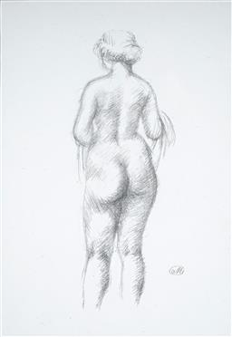 Sale 9116 - Lot 557 - Aristide Maillol (1861 - 1944) Femme Debout, Vue De Dos 1926 lithograph 34 x 24 cm (frame: 52 x 42 x 4 cm) monogrammed in plate lowe...
