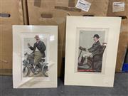 Sale 9058 - Lot 2095 - Pair of Vanity Fair Prints, unframed; 38 x 22 cm