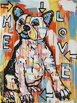 Sale 9096A - Lot 5051 - Yosi Messiah (1964 - ) - Love Me, 2020 100 x 75 cm