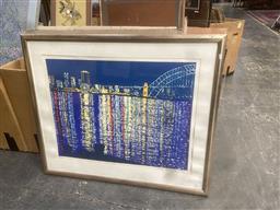 Sale 9111 - Lot 2099 - Wendy Merrington  Lunar Lights ed. 14/44, frame: 97 x 115 cm, signed