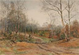 Sale 9161A - Lot 5068 - BENJAMIN JOHN OTTEWELL (1960 - 1937) - Country Track, Donside, Aberdeenshire, Scotland, 1889 46 x 65.5 cm (frame: 68 x 85 x 2 cm)