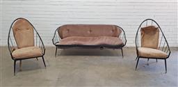 Sale 9151 - Lot 1037 - Framac lounge suite incl. 3 seater & 2 armchairs (h90 x w180 x d75cm)