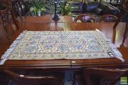 Sale 8390 - Lot 1333 - Kashmir Silk Rug (110 x 70cm)