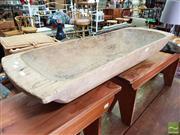 Sale 8469 - Lot 1031 - Rustic Timber Dough Bowl
